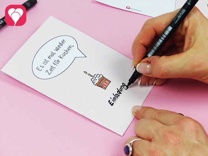 Zeit für Kuchen - DIY Klappkarte als Einladung Grusskarte oder Glückwunschkarte