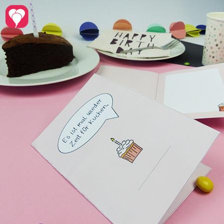 Zeit für Kuchen - DIY Klappkarte im Shop
