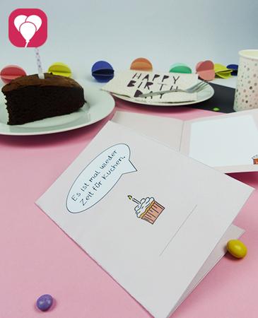 Zeit für Kuchen - DIY Klappkarte