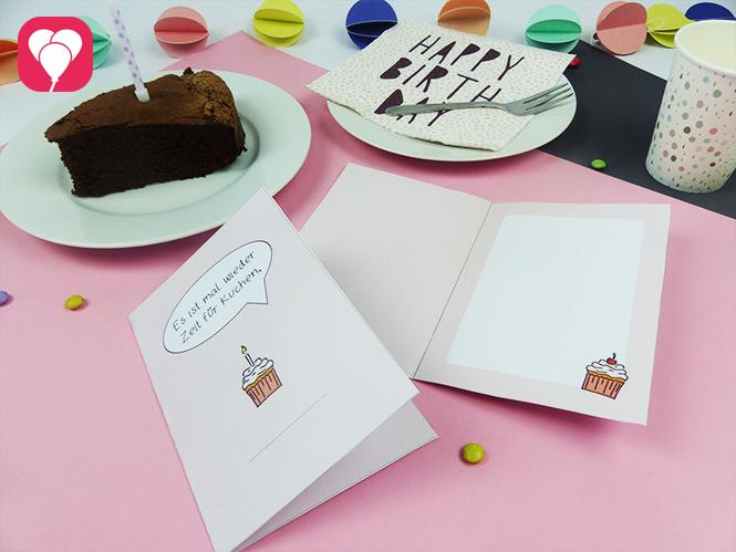 Zeit für Kuchen Karte - DIY Klappkarte für jeden Anlass