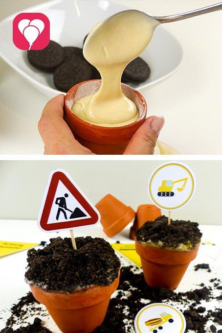 Baustellen Cupcakes - balloonas Pin