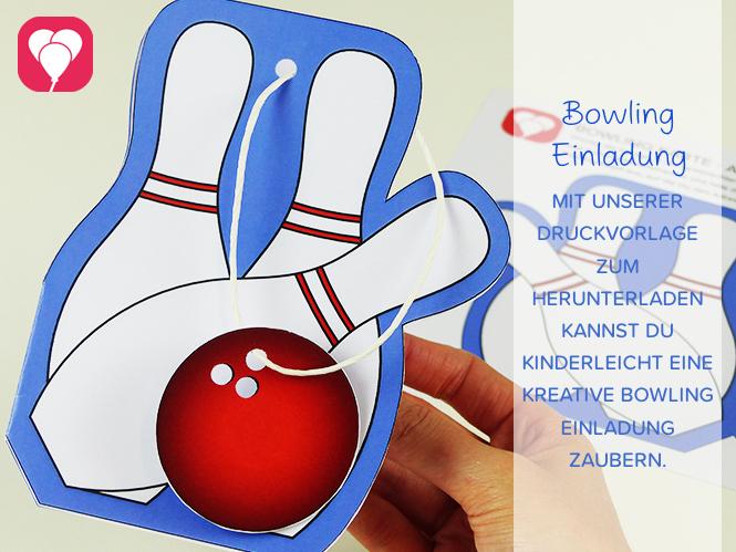 Bowling Einladung