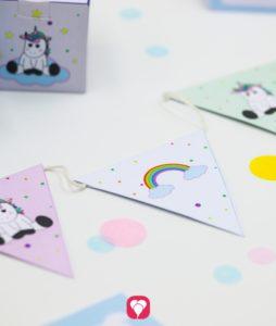 Einhorn Geburtstagspaket Basic - Wimpelkette