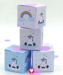 Einhorn Geburtstagspaket Basic - Geschenkbox