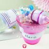 Märchenschloss Flaschenetiketten und Becherschilder für kleine Prinzessinnen