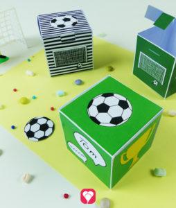 Fußball Geschenkbox zum Herunterladen