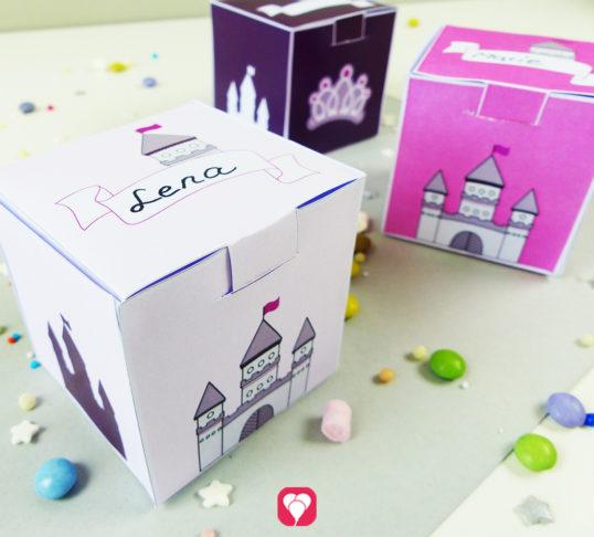 Bastel Dir Deine süße Märchenschloss Geschenkbox für den Prinzessinnen Geburtstag