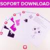 Märchenschloss Geschenkbox als Sofort-Download