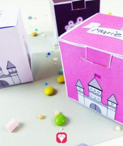 Märchenschloss Geschenkbox zum Ausdrucken und Falten