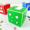 Kunterbunte Monster Geschenkbox für Dein Mitgebsel beim Kindergeburtstag