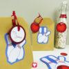 Dekoriere einfache Papiertüten zur Bowling Geschenktüte