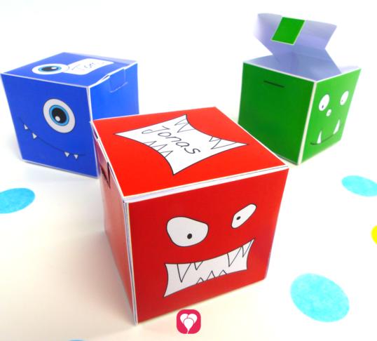 Monster Geschenkbox - balloonas