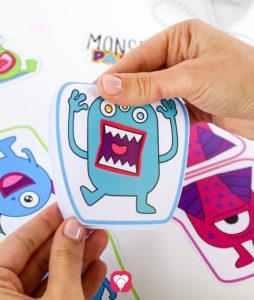 Monster Wimpelkette - Wimpel falten