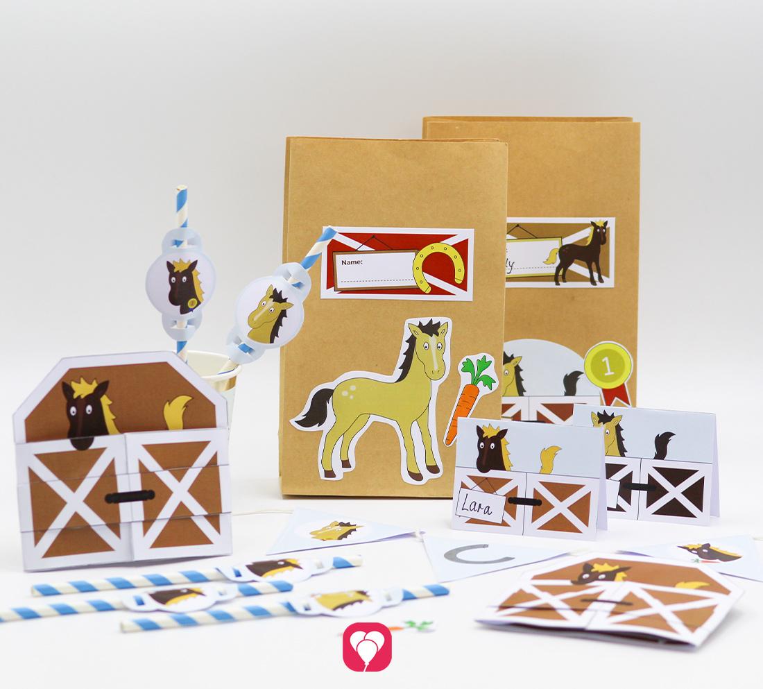 Pferde Geburtstagspaket - Basic