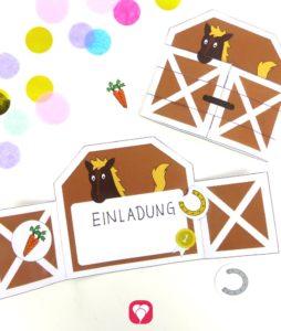 Pferde Geburtstagspaket Basic - Pferde Einladung