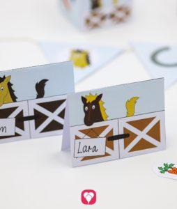 Pferde Geburtstagspaket Basic - Tischkarten und Strohhalmdeko