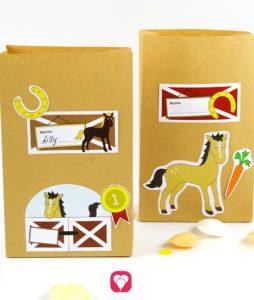 Pferde Geburtstagspaket Basic - Geschenkaufkleber