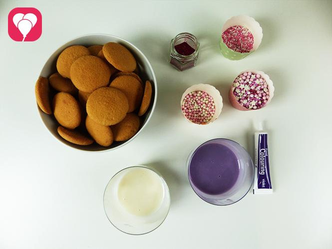 Prinzessinnen Kekse verzieren - Zutaten