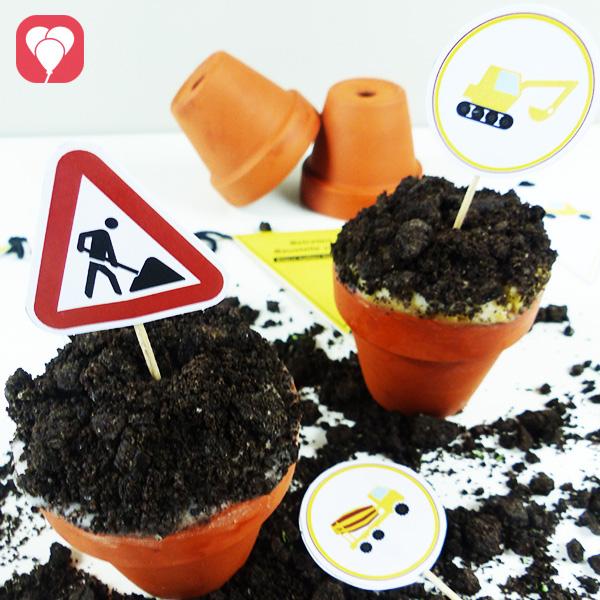 So backst Du ausgefallene Baustellen Cupcakes