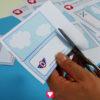 Flieger Tischkarten - Schritt 1