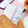 Märchenschloss Tischkarten - Schritt 2