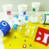 Lustige Monster Flaschenetiketten und Becherschilder für Deinen Kindergeburtstag