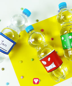 Monster Flaschenetiketten zum Ausdrucken
