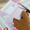 Einhorn Tischkarten - Schritt 1