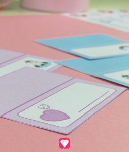 Einhorn Tischkarten - Schritt 2