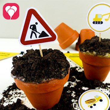 Baustellen Cupcakes - balloonas