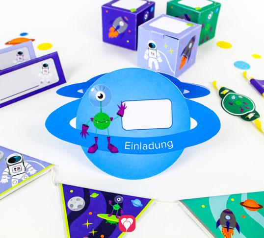 Weltraum Geburtstagspaket - balloonas