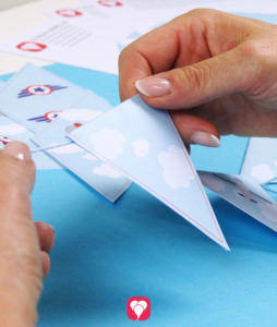 Individuelle Flieger Wimpelkette als Deko Girlande