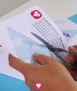 Flieger Wimpelkette - Schritt 1