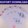 Flieger Wimpelkette als Sofort-Download