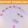 Pferde Wimpelkette als Sofort-Download