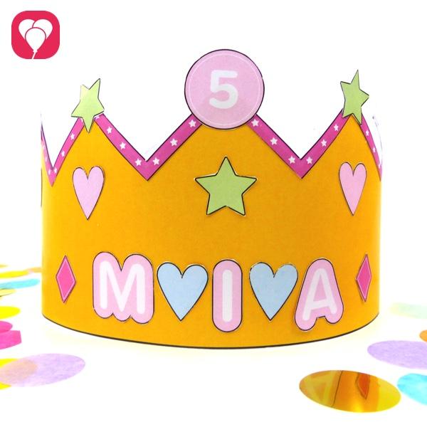 Prinzessinnen Krone mit Vorlage balloonas