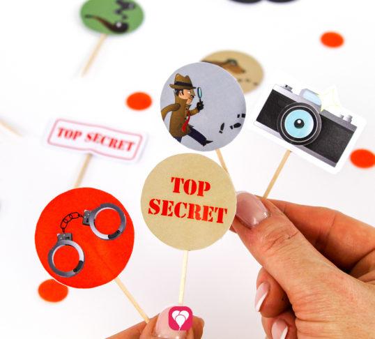 Detective Party Picks - balloonas