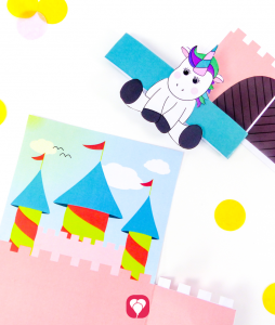 Unicorn Invitation Card for crafting