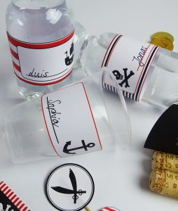 pirate bottle labels