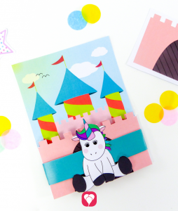 Unicorn Invitation Card - balloonas