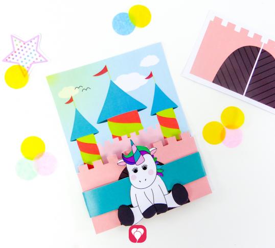 Unicorn Invitation Card - balloonas