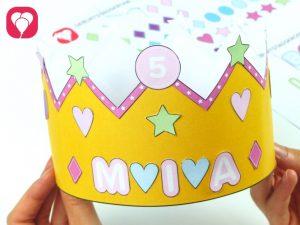 fertige Krone - Geburtstagskrone basteln