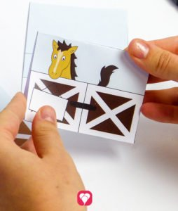 Horse Place Cards and Straws - fold place cards