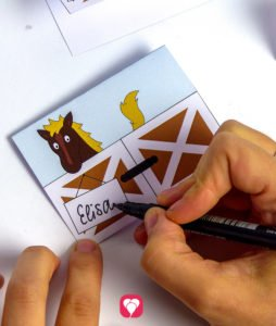 Horse Place Cards and Straws - label place cards