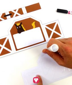 horse invitation card for crafting