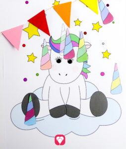 Pin the Unicorn Game - balloonas