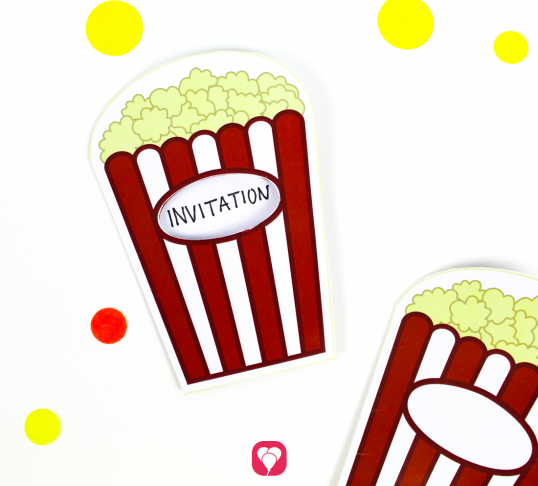 Popcorn Card - balloonas