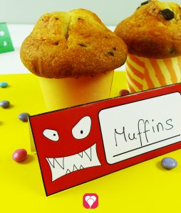 Monster Place Cards and Straws 11