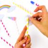 Unicorn Photobooth - stick motif to the straw