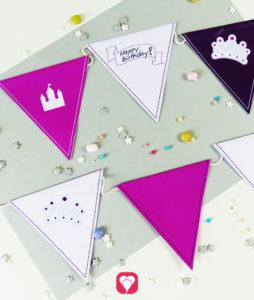 Märchenhafte Wimpelkette für kleine Prinzessinnen